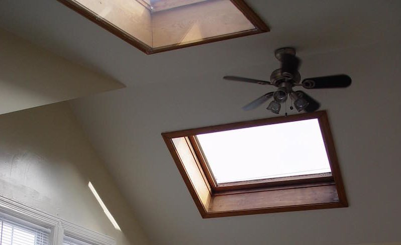 A skylight in a home