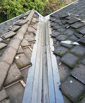 Valley in Tile Roof